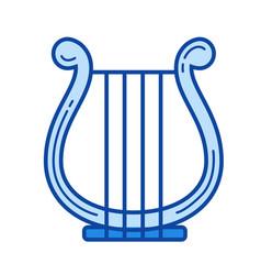 harp line icon vector image
