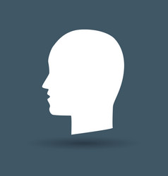 head icon on white background vector image