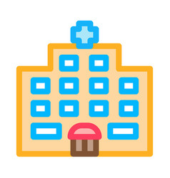 hospital building icon outline vector image