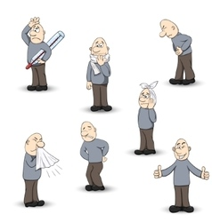Human disease ailment set vector image