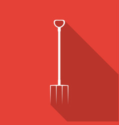 icon garden tools on long shadow vector image