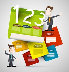Infographic Paper Layout with Businessmen vector image