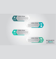 infographics modern template for business 4 step vector image