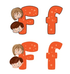 Letter F face vector