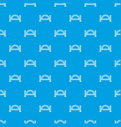 Metallic bridge pattern seamless blue vector