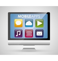 Multimedia mobile applications vector