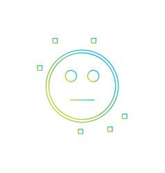 neutral emoji icon vector image