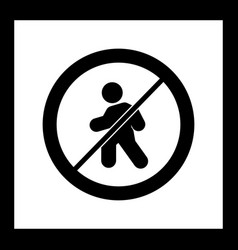 No entry for pedestrians icon vector