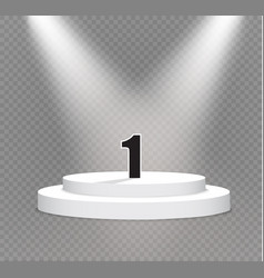 Number onepodium on a transparent backgroundlit vector