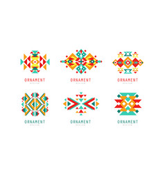 ornament design logo templates collection vector image