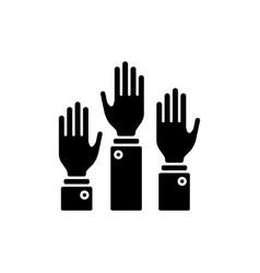 Participation black glyph icon vector