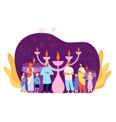 people celebrating diwali celebration person with vector image