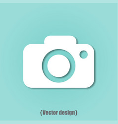 photo icon design flat vector image