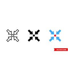 Point icon 3 types color black and white vector