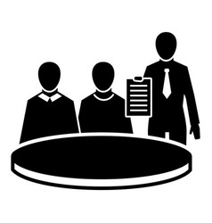 political meeting icon simple style vector image