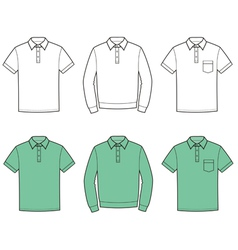 Polo t-shirts vector