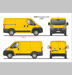 Ram promaster cargo delivery van l1h1 2018 vector