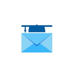 school mail logo icon design vector image