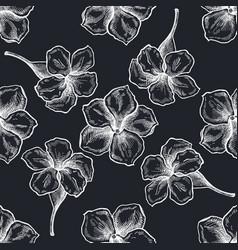 seamless pattern with hand drawn chalk allamanda vector image