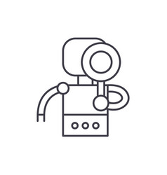 search robot line icon concept search robot vector image