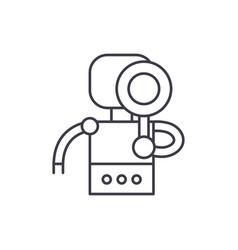 Search robot line icon concept search robot vector