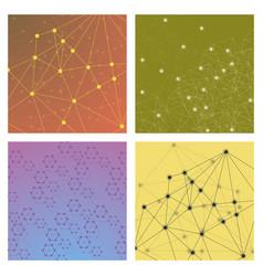 set of genetic engineering nanotechnology medical vector image