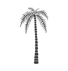 Silhouettes of hand drawn palms trees vector