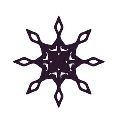 snowflake dark silhouette vector image