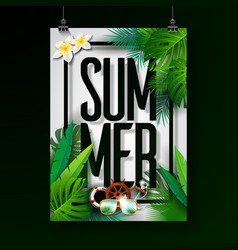 Summer holiday typographic on vector