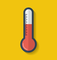 Thermometer icon Flat style vector