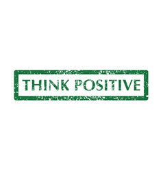 think positive stamps vector image