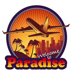 Travel paradise vector
