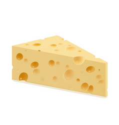 Triangular piece cheese vector
