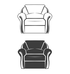 two comfortable armchair vector image