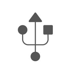 usb sign usb modern simple icon eps 10 vector image
