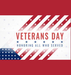 Veterans day honoring all who served 11th of vector