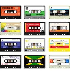 Vintage cassette tapes vol 3 vector