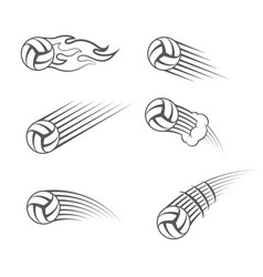 volleyball moving symbol vector image