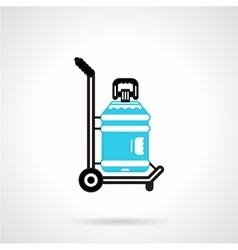 Water delivery black and blue icon vector image