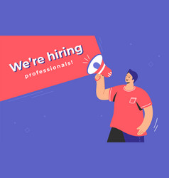 We are hiring prefessionals concept vector