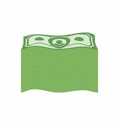 Bundle money Big pile dollars vector image vector image