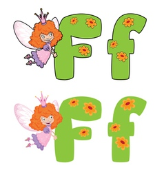 letter F fairy vector image vector image