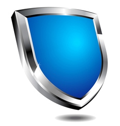 Modern Blue Shield vector image vector image