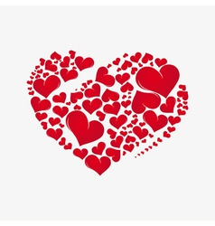 abstract red heart vector image vector image