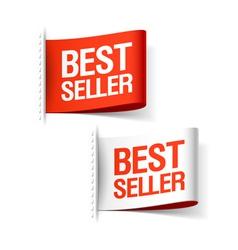 Bestseller labels vector image vector image