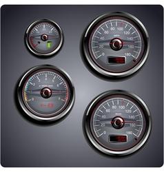 car gauges vector image