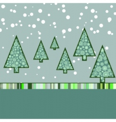 retro Christmas card template vector image