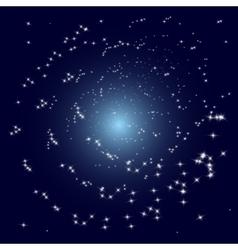 stars spiral galaxy vector image vector image