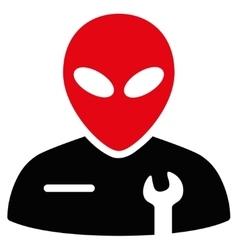 Alien Mechanic Flat Icon vector image vector image