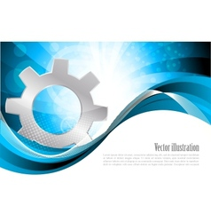 background with gear vector image vector image